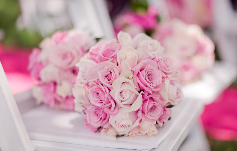Photo wallpaper roses, buds, wedding bouquet
