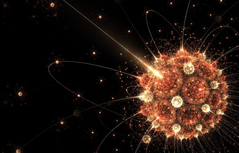 Photo wallpaper balls, line, ball, black background, convexity