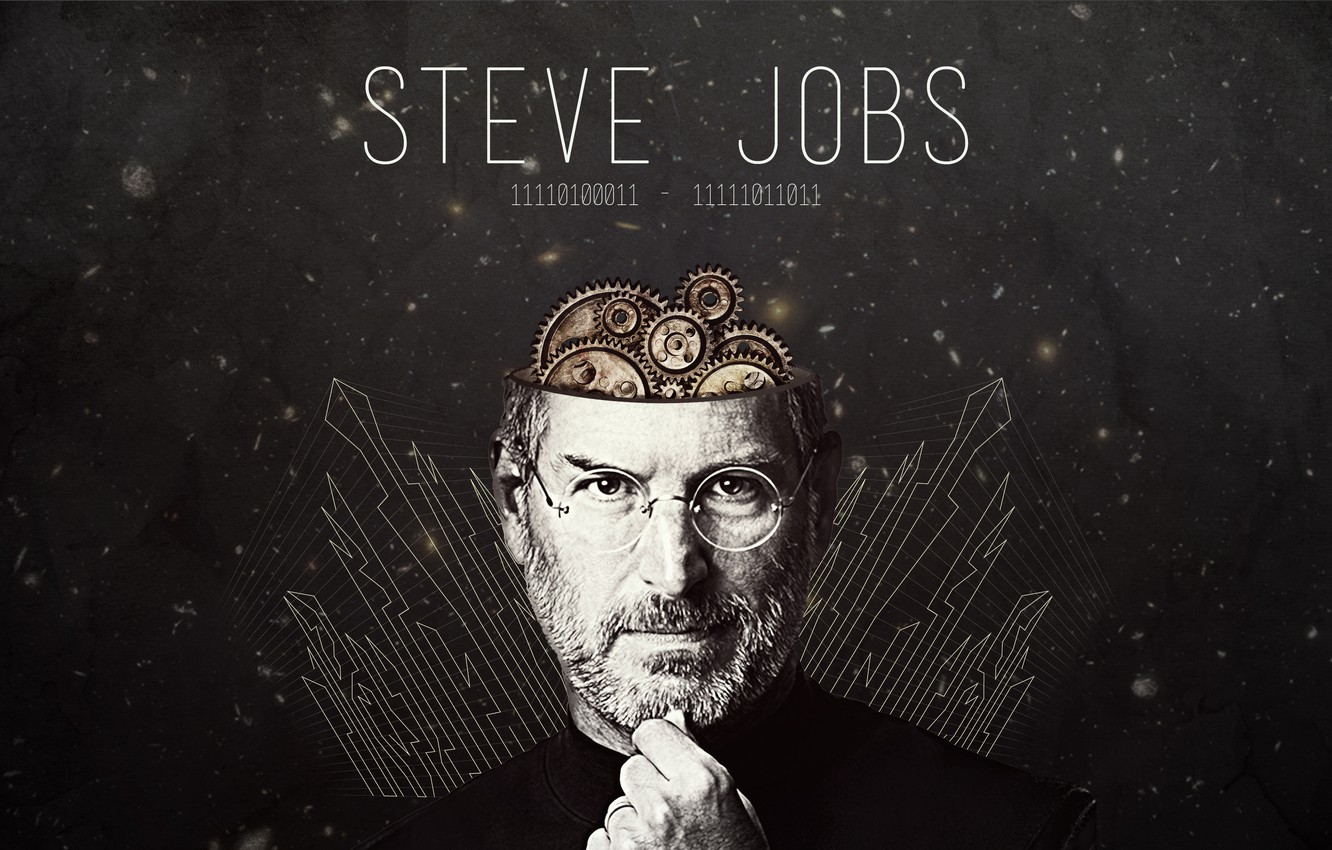 Photo wallpaper genius, ipod, apple, head, pixar, mac, iphone, mechanisms, ipad, Steve Jobs, Steve Jobs, itunes, inventor, …