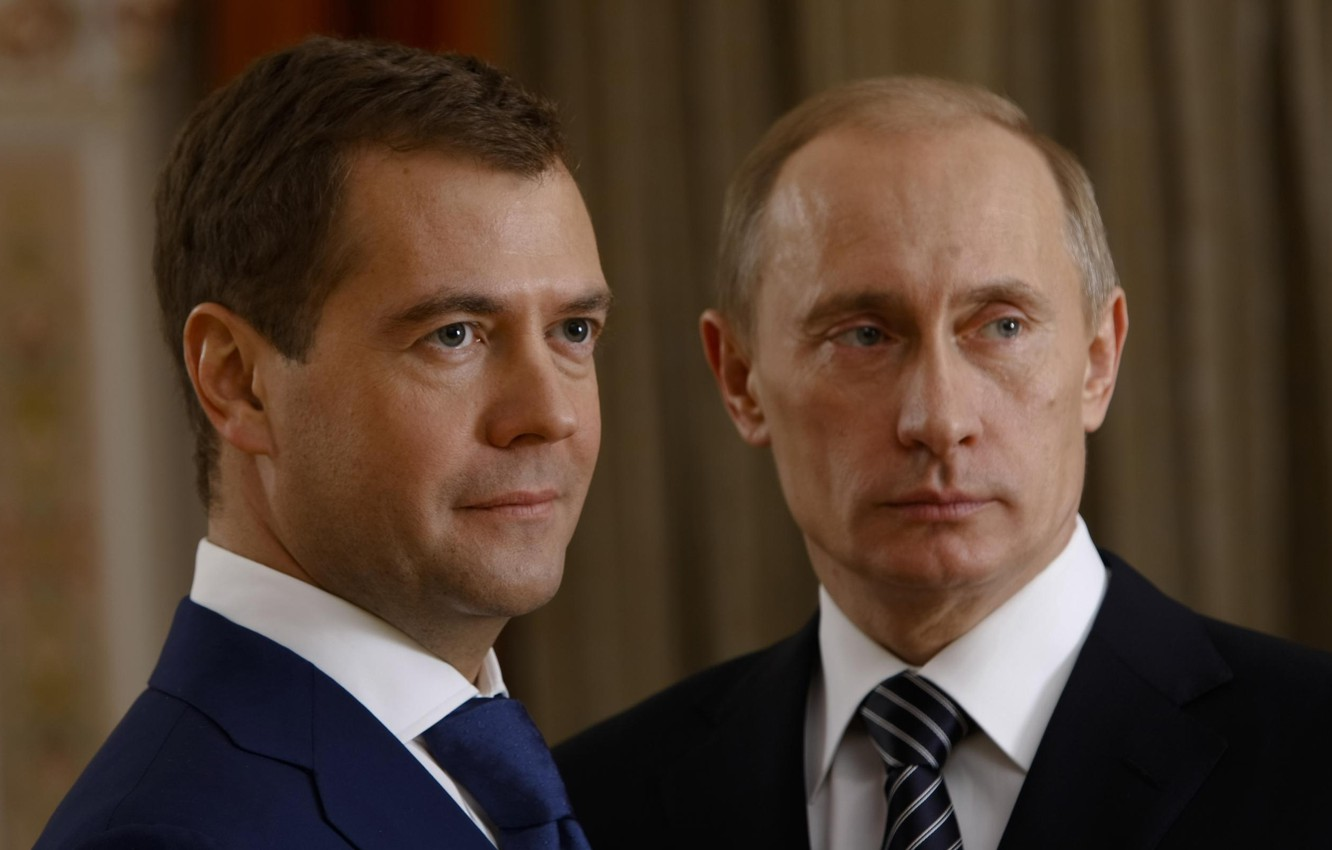 Wallpaper Look Policy Russia President Vladimir Putin Dmitry Medvedev Prime Minister Images For Desktop Section Muzhchiny Download