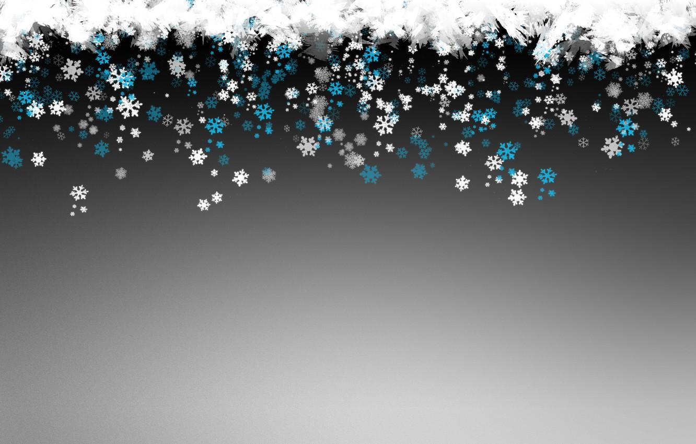 Photo wallpaper winter, snowflakes, new year