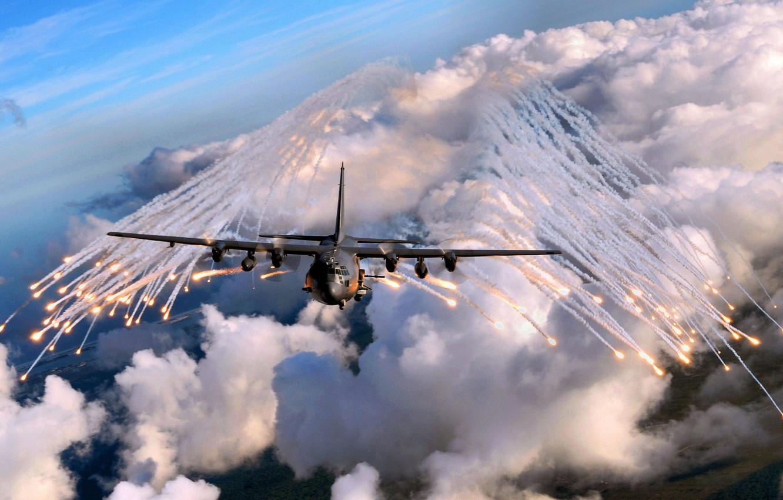 Photo wallpaper aircraft, angel of death, ac130
