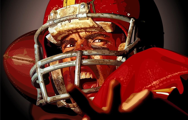 Photo wallpaper vector, Rugby, helmet, athlete, American football