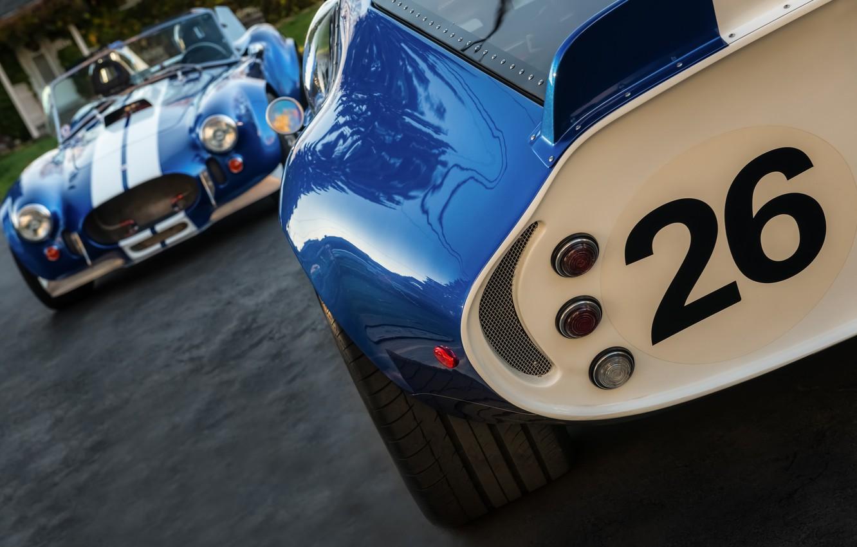 Photo wallpaper classic, legend, cars, blue, 1965, 1967, sports, racing, Shelby Cobra, Daytona Coupe