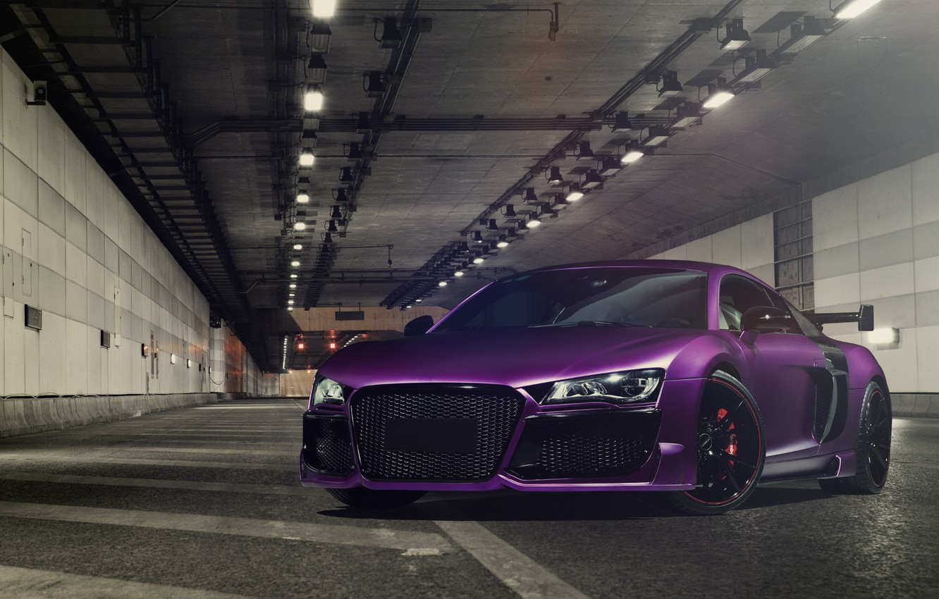 Photo wallpaper Audi, Purple, Tuning, V10, Regula
