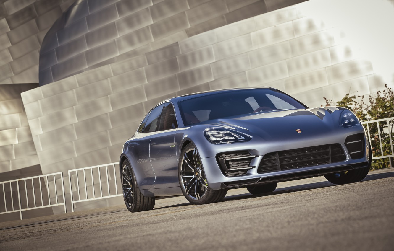 Photo wallpaper Concept, Porsche, Panamera, supercar, the front, Porsche Panamera Sport Turismo Concept