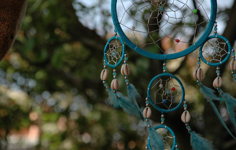 Photo wallpaper feathers, talisman, amulet, Dreamcatcher, Dreamcatcher