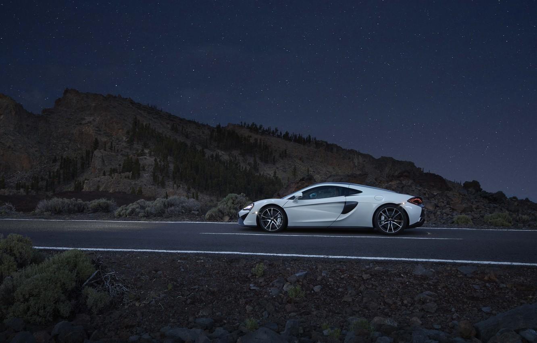 Photo wallpaper auto, white, McLaren, supercar, side view, McLaren, 570GT