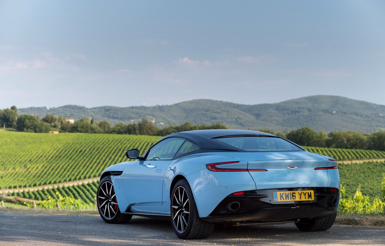 Photo wallpaper car, auto, Aston Martin, Martin, Aston, rear view, nice, DB11