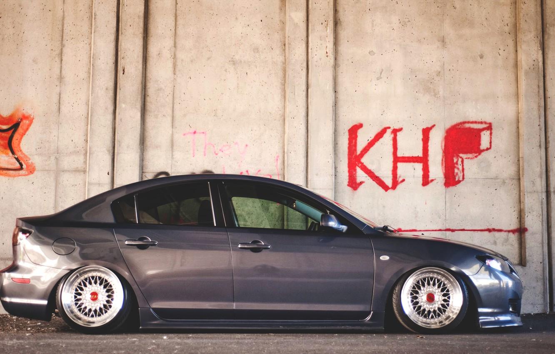 Photo wallpaper wall, graffiti, wall, graffiti, mazda, Mazda