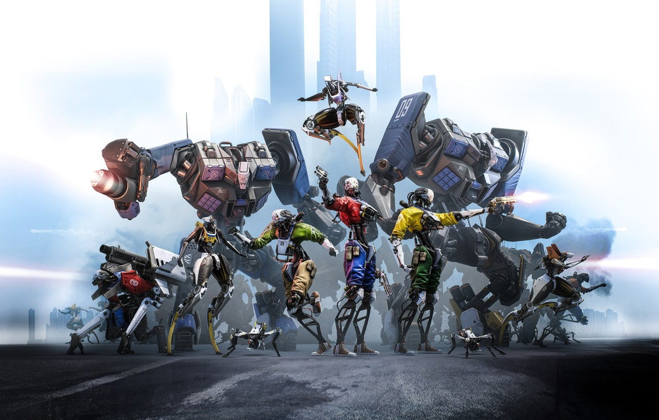 Photo wallpaper Epic Games, Key Art, Robo Recall