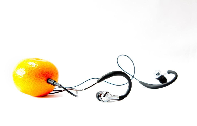 Photo wallpaper headphones, Mandarin, It's not Apple
