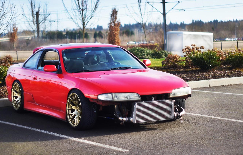 Photo wallpaper Silvia, Nissan, S14, Stance, Low, XXR, BellyScrappers, Zenki