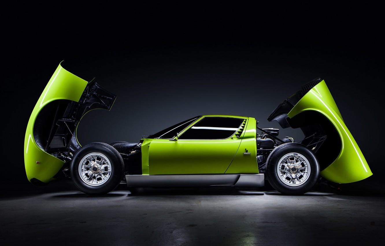Photo wallpaper Lamborghini, Green, Miura, Lamborghini Miura, by JeremyCliff Photography