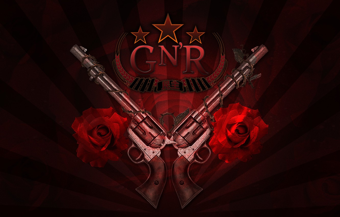 Wallpaper Roses Guns N Roses Logo Rock Trunks Images For