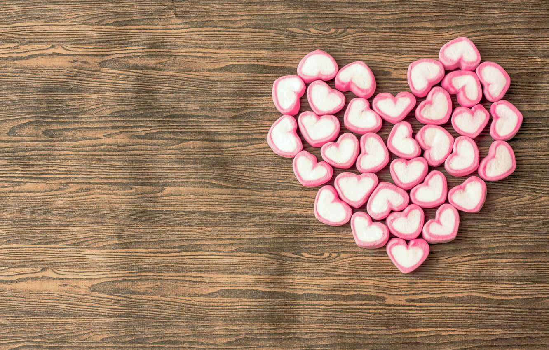 Photo wallpaper love, romance, heart, candy, hearts, love, heart, romantic, sweet, sweet, candy, marshmallows
