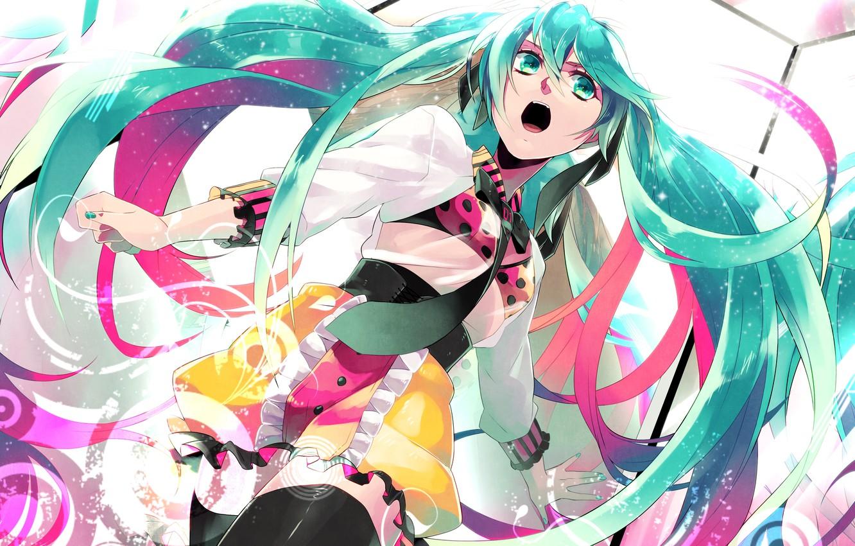 Photo wallpaper girl, anime, art, tie, Hatsune Miku, Vocaloid, Vocaloid, matoki