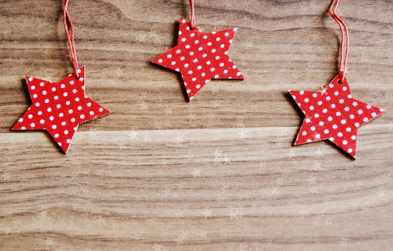 Photo wallpaper stars, red, paper, background, Wallpaper, mood, polka dot, wooden, wallpaper, stars, widescreen, background, full screen, …