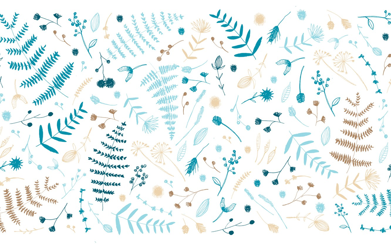 Photo wallpaper leaves, twigs, Designed by, Nathalie Ouederni