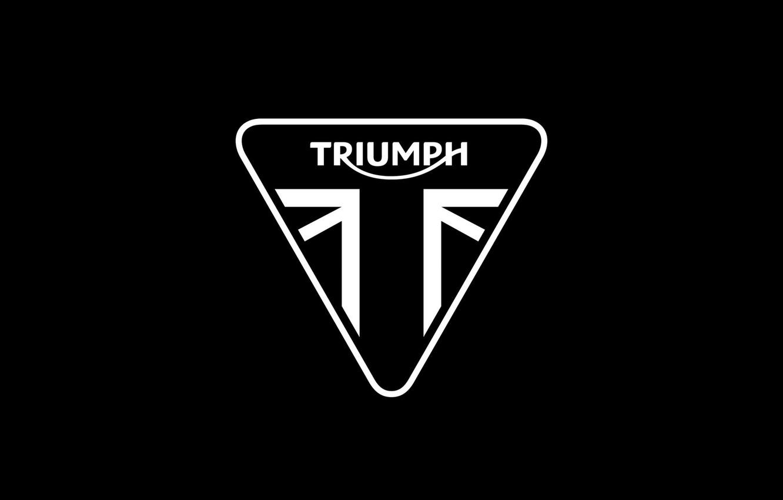 Photo wallpaper logo, moto, triumph