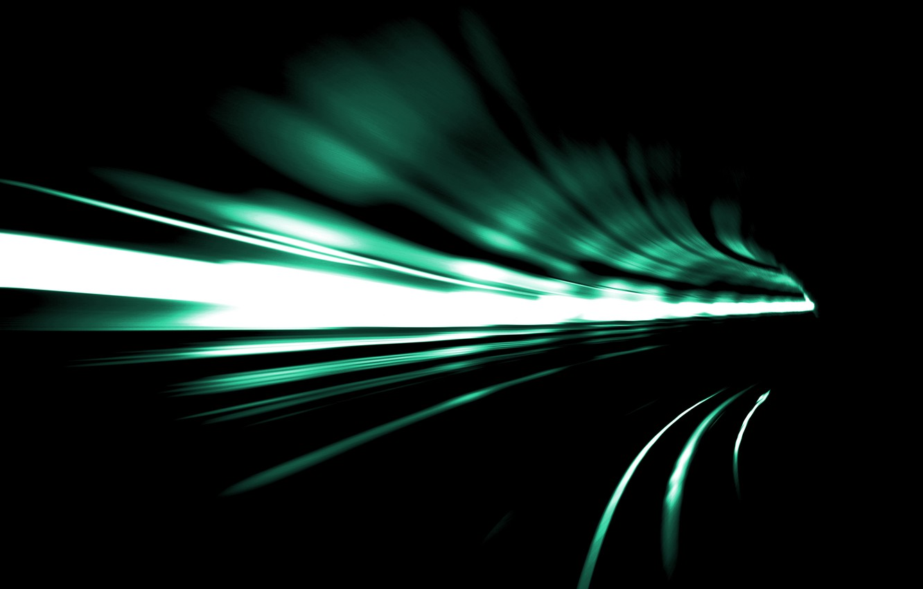 Photo wallpaper light, abstraction, speed, turn, the tunnel