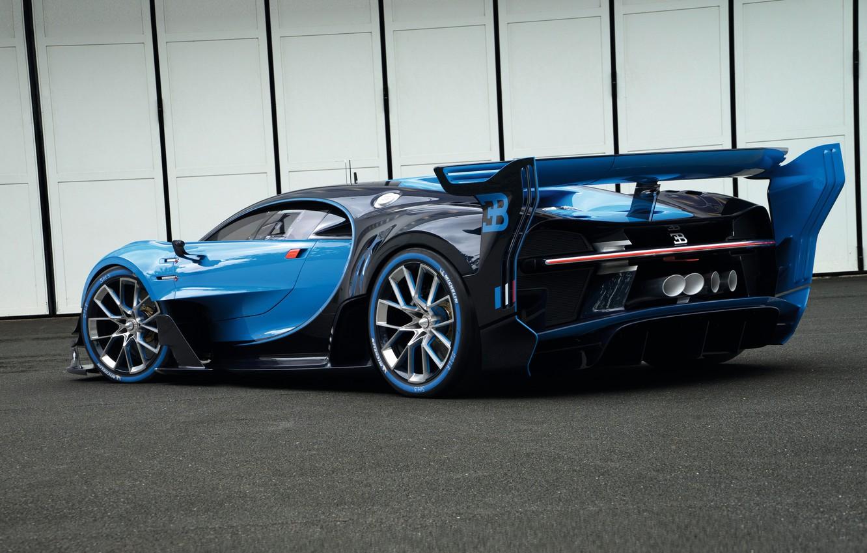Photo wallpaper Bugatti, Vision, Bugatti, Gran Turismo, Gran Turismo, 2015