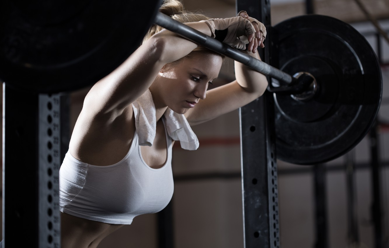 Photo wallpaper gym, fatigue, physical activity, tiredness