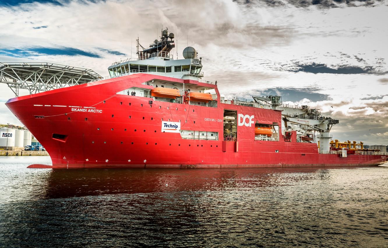 Photo wallpaper the ship, Skandi Arctic, diving vessel