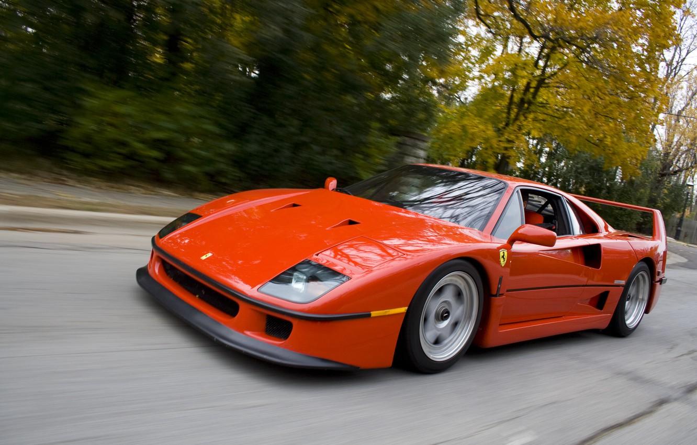 Photo wallpaper speed, Ferrari, ferrari f40