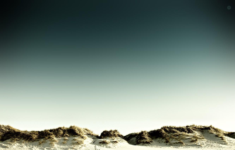 Photo wallpaper sand, the sky, grass