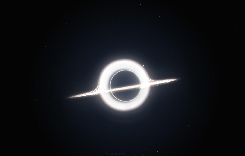 Photo wallpaper white, black hole, interstellar