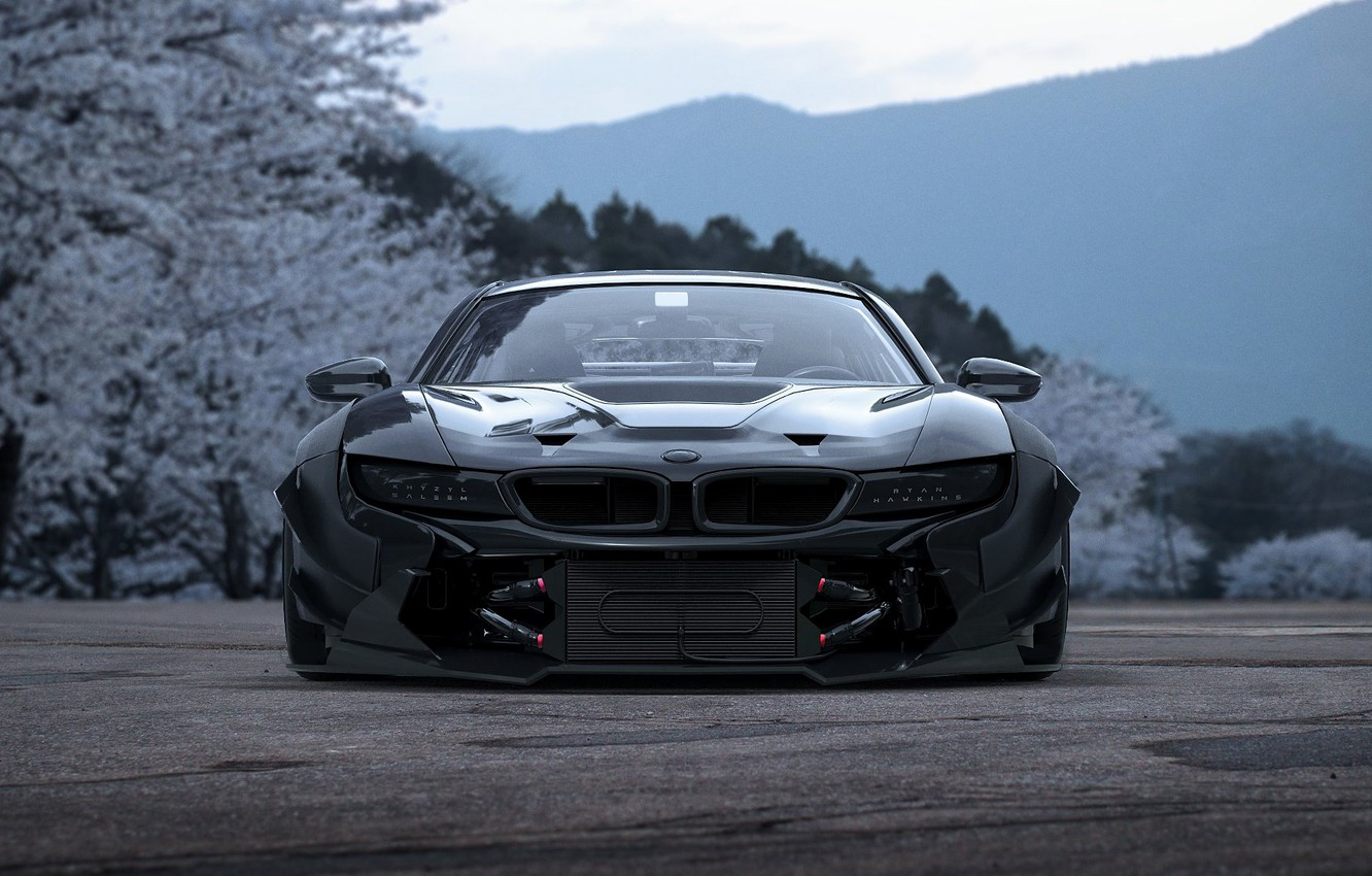Photo wallpaper Concept, BMW, Japan, Car, Sakura, Tuning, Future, i8