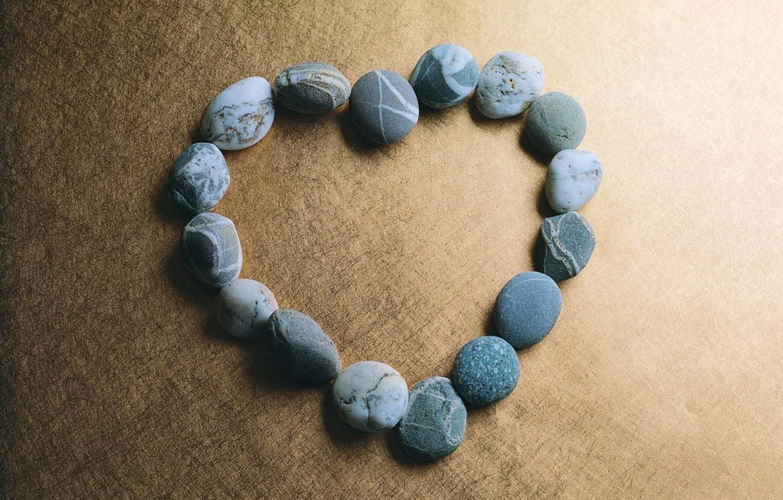 Photo wallpaper stones, background, heart
