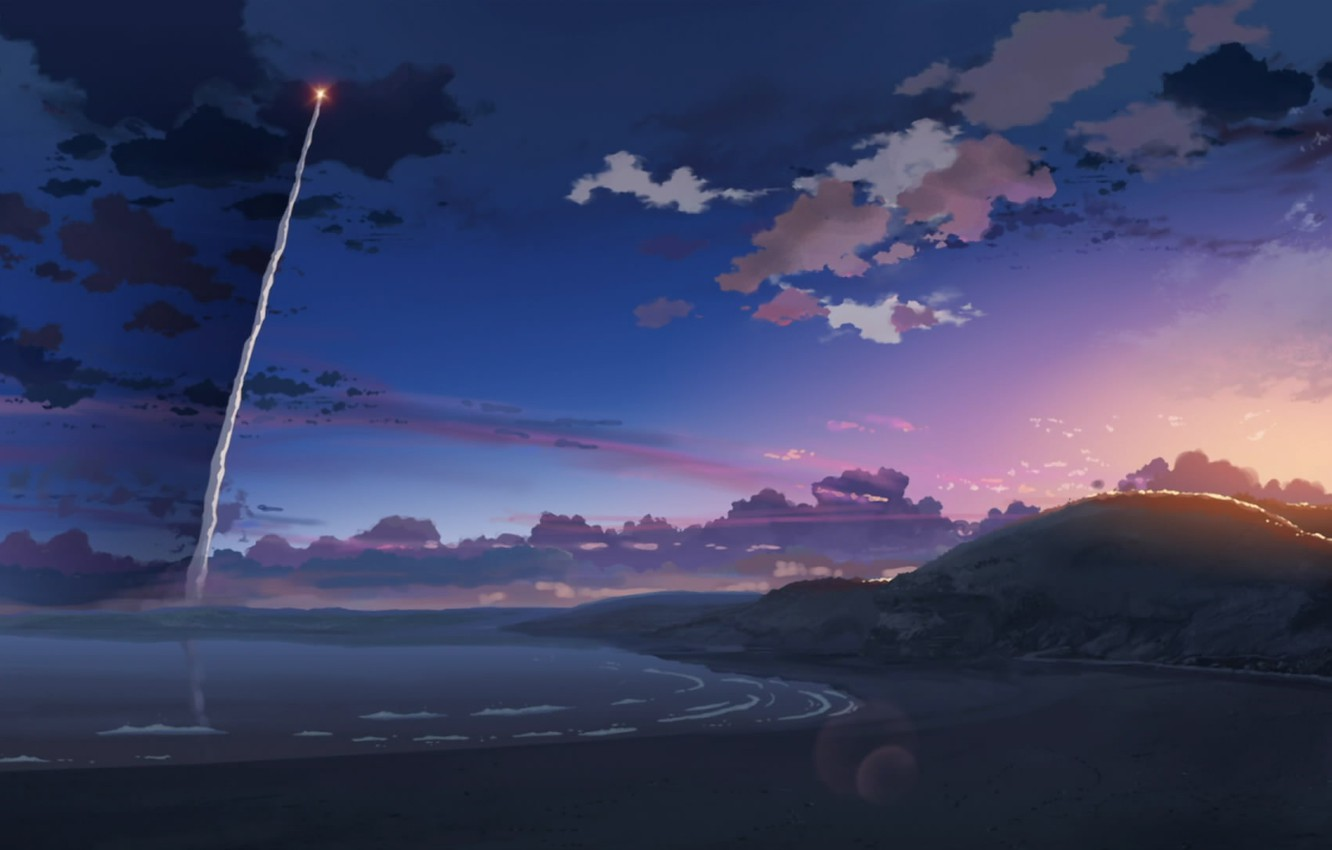 Photo wallpaper rocket, 5 centimeters per second, Makoto Xingkai
