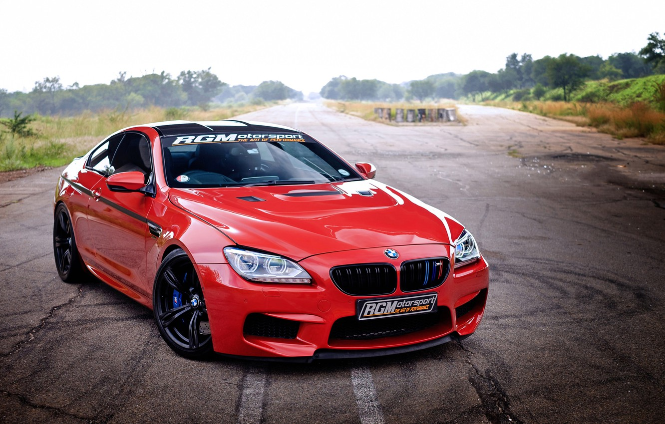 Photo wallpaper BMW, Red, Coupe