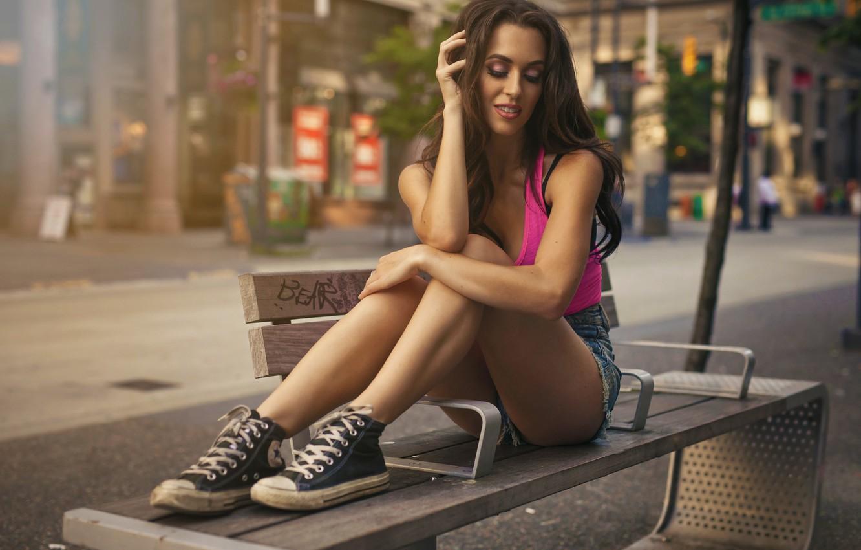 Photo wallpaper Light, Model, Natural, Graphics, Bus, Stop, Bench, Jase, Daniela Dib