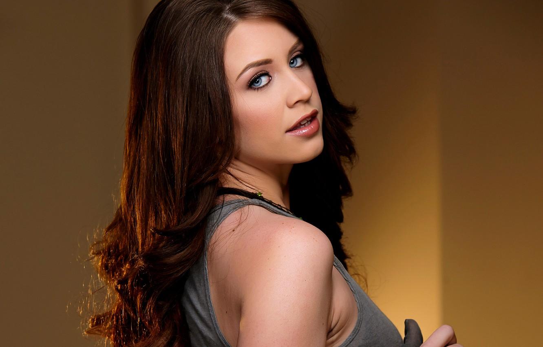 Photo Wallpaper Girl Face Background Model Hair Delilah Blue