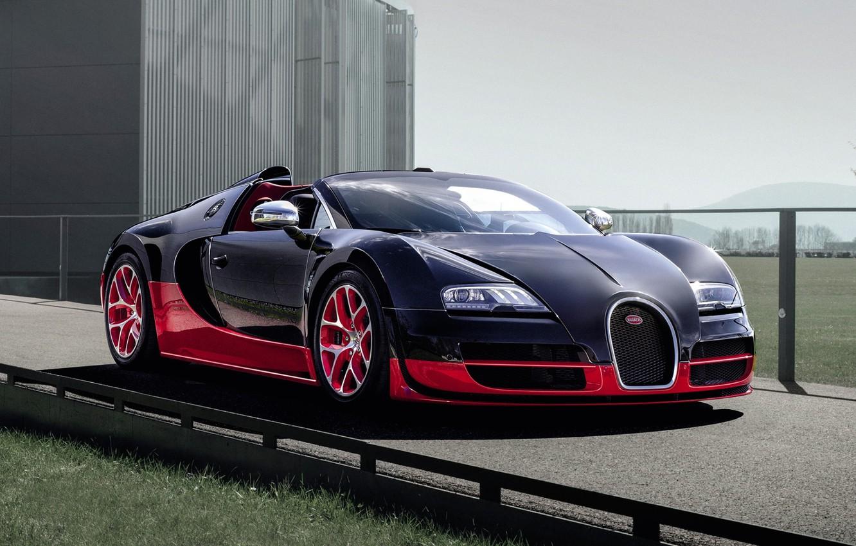 Photo wallpaper Roadster, Bugatti, Bugatti, Veyron, Veyron, supercar, the front, hypercar, Grand Sport, Grand Sport, Vitesse