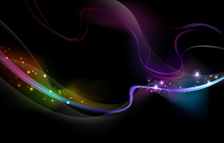 Photo wallpaper wave, line, lights, color