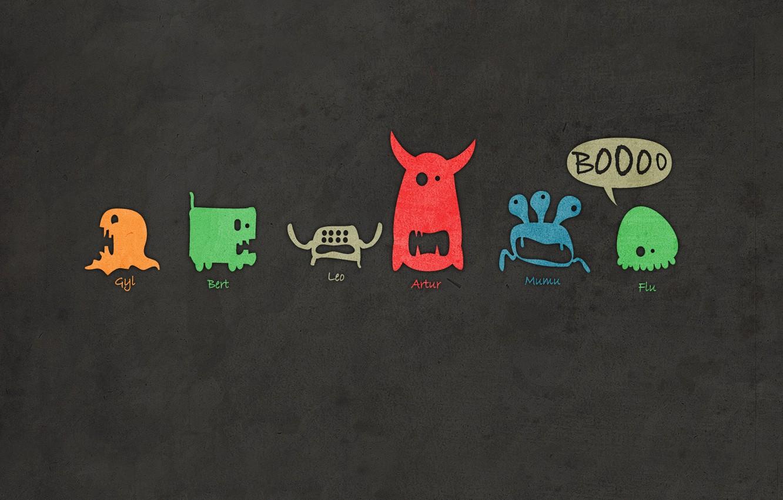 Photo wallpaper Monsters, Muzzle, Gavrik, The smiley