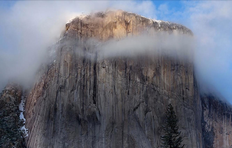 Wallpaper Fog Apple Mountain Mac Yosemite Images For