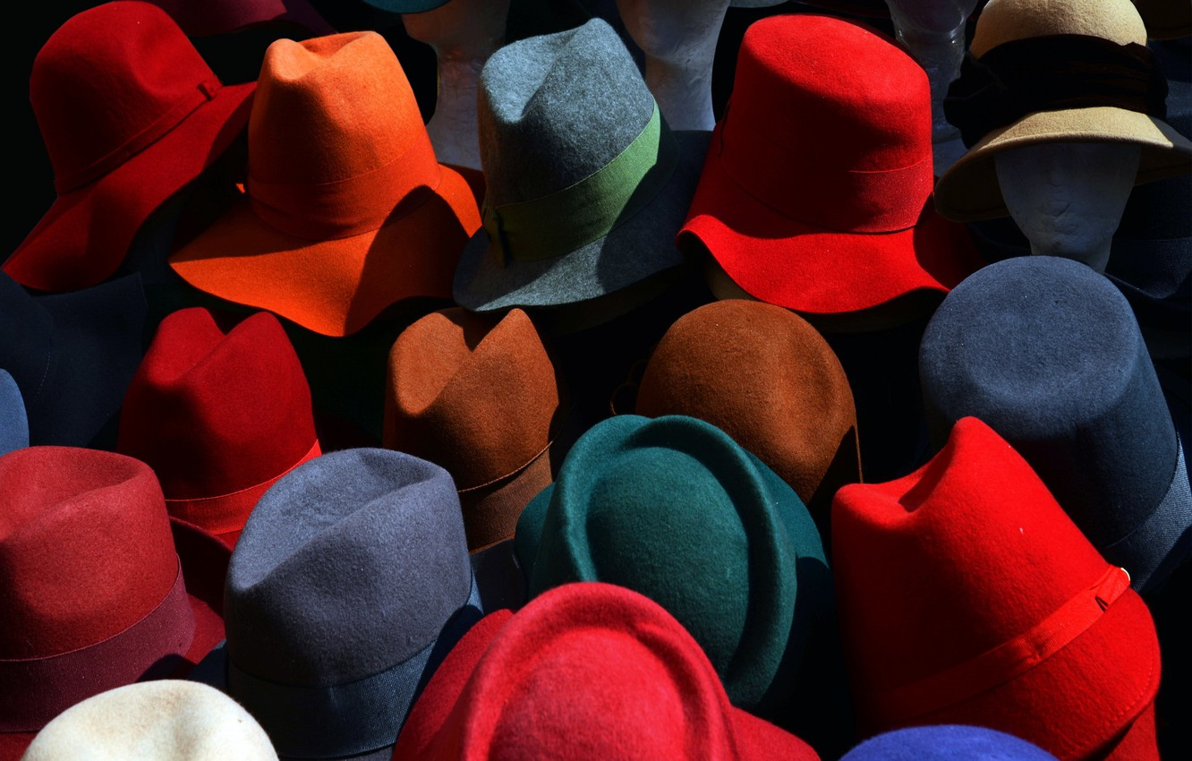 Photo wallpaper background, color, hats