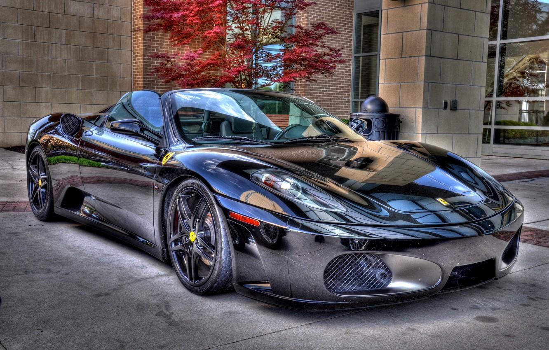 Wallpaper F430 Ferrari Black Spider Chrome Images For Desktop Section Ferrari Download