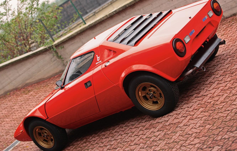 Photo wallpaper Lancia, 1973, Classic cars, Stratos, High Fidelity, Bertone, Marcello Gandini, Look on the back