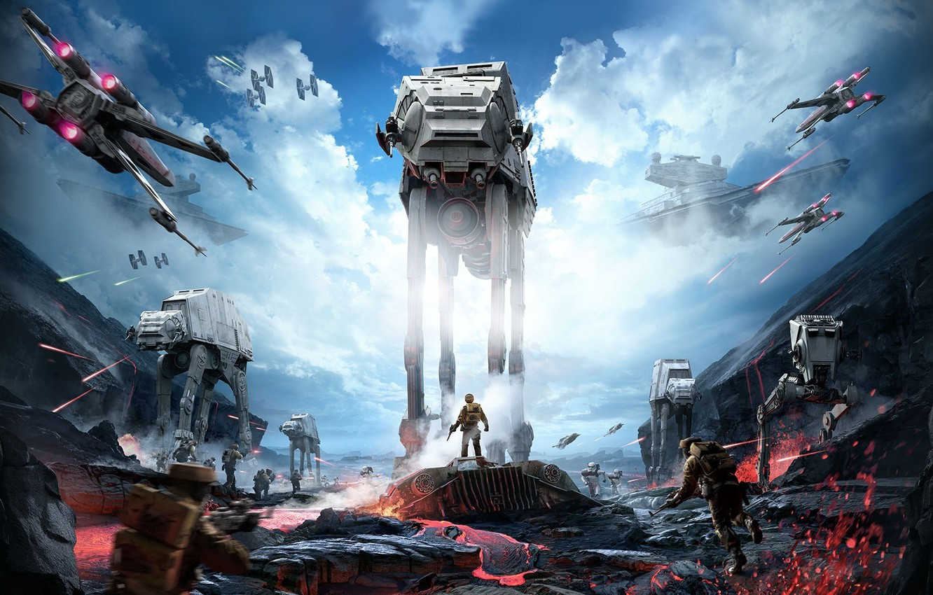Wallpaper Star Wars Star Wars Battle The Battle Star Destroyer The Rebels X Wing Stormtroopers Electronic Arts Dice At At Fps Frostbite 3 Battlefront Battle Front The Imperials Images For Desktop Section Igry