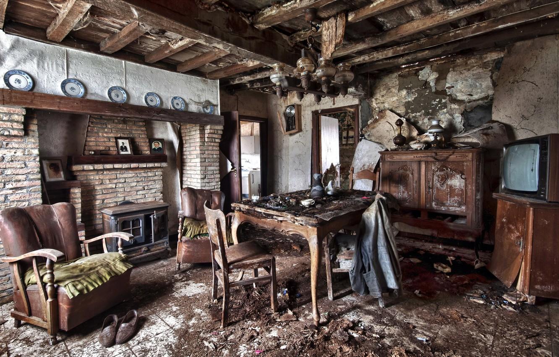 Photo wallpaper room, furniture, interior