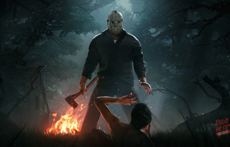 Photo wallpaper Jason, Friday the 13th, Axe, Mask, Jason Voorhees, Jason, 2016, Friday the 13th: The Game, …