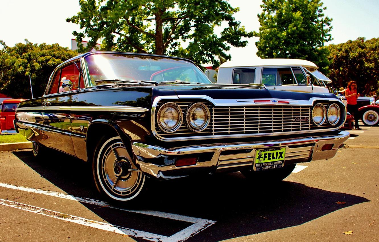 Photo wallpaper Chevrolet, Classic, Chevy, Impala, Chevrolet, 64' Impala