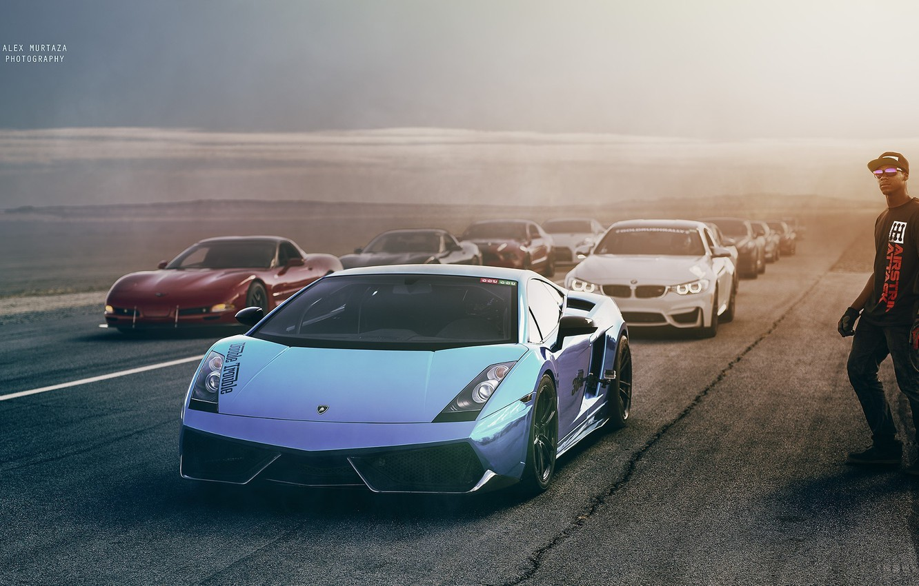 Photo wallpaper Ford, Lamborghini, Chevrolet, BMW, Nissan, Race, Cars, Exotic, Alex Murtaza