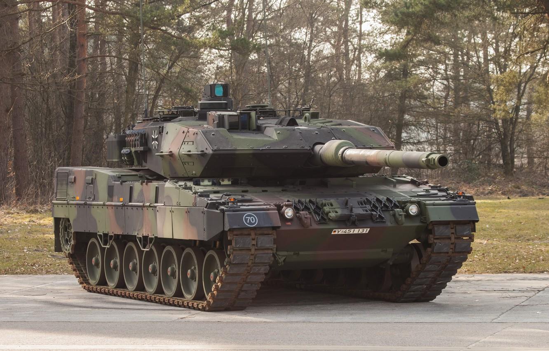 Photo wallpaper tank, combat, Leopard, Bundeswehr, 2A7